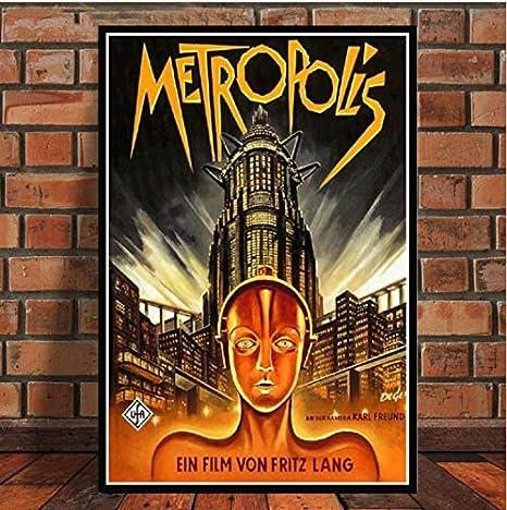 60x90cm ohne Rahmen Metropolis Movie Retro Poster und Print Leinwand Malerei f/ür Wohnzimmer Dekor Schlafzimmer Home Decor