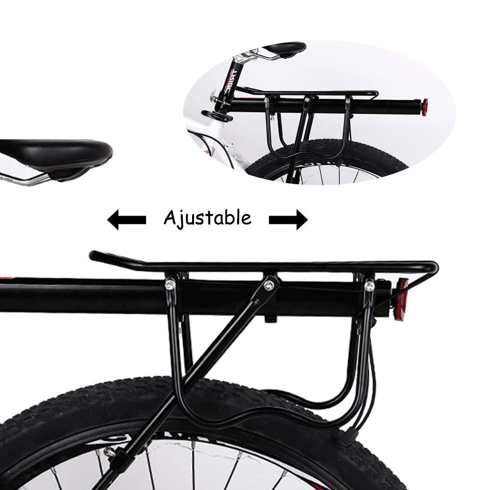 Gindoly Portaequipajes Trasero Bicicleta Accesorios Ajustable Soporte Aleación de Aluminio MTB con Reflector
