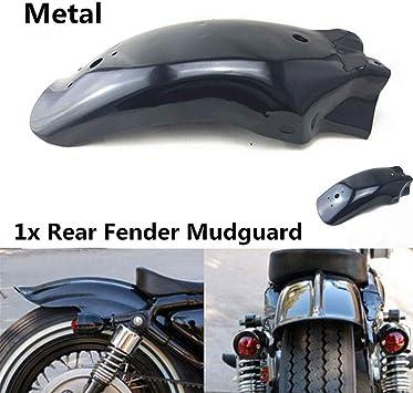 Pjhao Universal Metall Motorrad Hinten Fender Schutzblech Kotflügel Modifiziert Rennrad Schutzblech Schwarz Auto