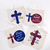 44f206bfdc Amazon.com   Wholesale Large Christian Tween Religious Tote Bags (12 ...