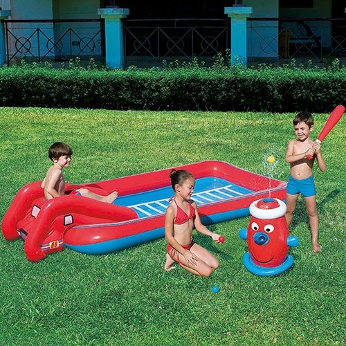 """Bestway Toys Domestic Interactive Fire Truck Play Pool, 99 x 49 x 20"""""""