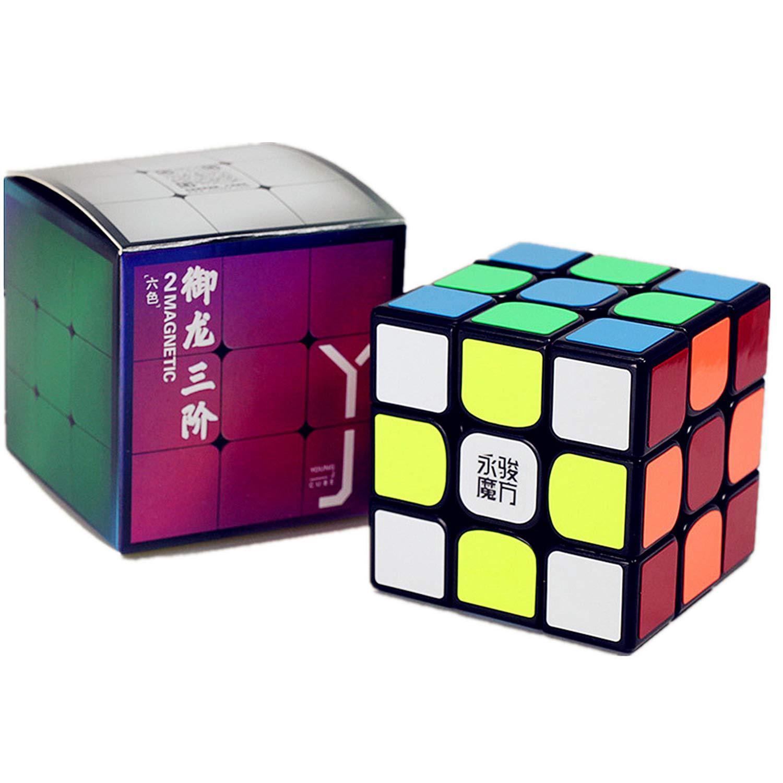 LiangCuber YJ Yulong V2 M 3x3 Speed Cube Black YongJun Yilong 2M Magic Cube 3x3x3 Magnetic Cubes Puzzle