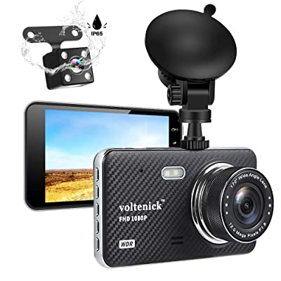 Dual Dash Camera for Cars Dash Cam Front and Rear 1080P Full HD Car Recorder 4 Inch IPS Screen 170°Wide Angle,Super Night Vision,WDR,Motion Detection,Loop Recording,G-Sensor,Parking Monitoring: Car Electronics [5Bkhe2004771]