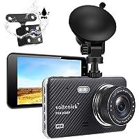 voltenick 1080P Full HD Car Recorder 4 Inch IPS Screen Dual Dash Camera
