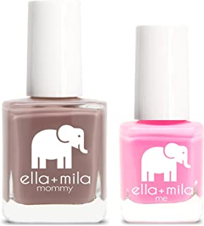 product image for ella+mila Nail Polish, mommy&me set - Cup O'Latte + Pinkterest