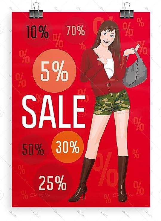 Sale Póster - Póster de Liquidación Publicidad, DIN A1, Rojo ...