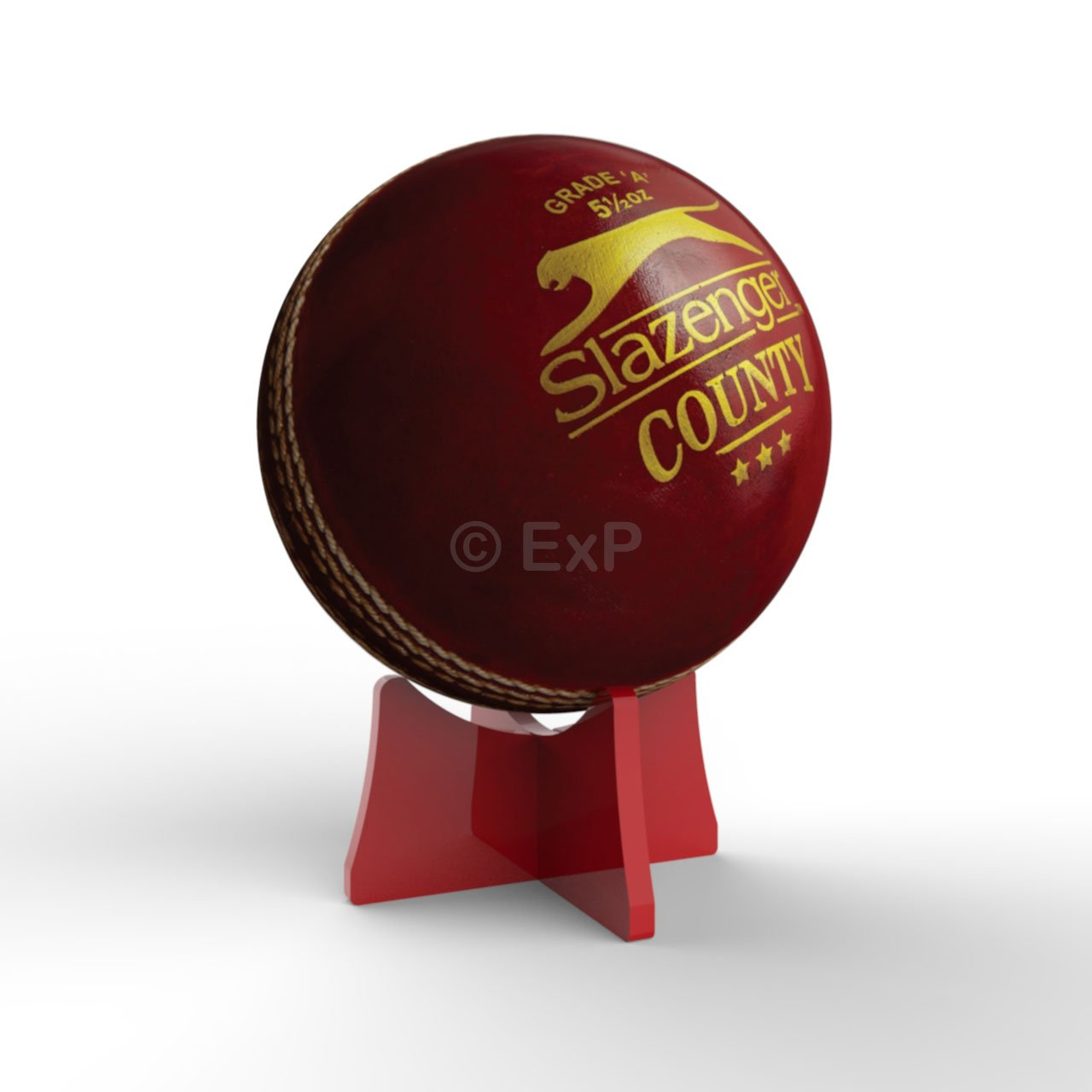 Acrylic Cricket Ball Display Stand Riser Plinth (Lime) 8 Colours Available Expression Products