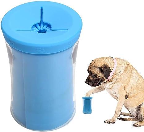 YQHbe Limpiador de Patas de Perro,Limpiador De Huellas para Perros Portatil Cepillo de Limpieza para Mascotas,Limpieza Patas Perro Gato Limpiador Lavado De Pies Copa con Toalla