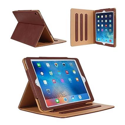 iPad 234 Hülle Leder Tasche Smart Schutzhülle Cover Case mit Ständer Funktion und Auto EinschlafAufwach für Apple iPad 2 iPad 3 iPad 4(braun)