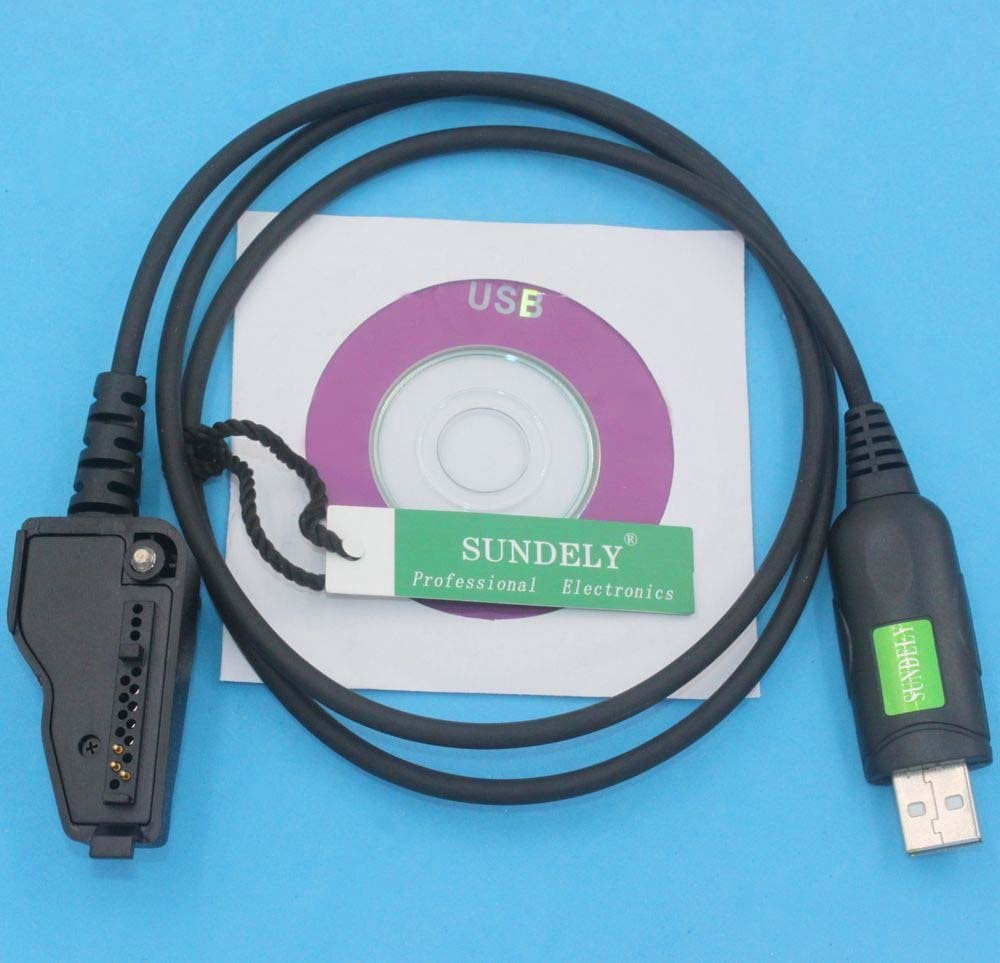 Software KPG-111D SUNDELY USB Programming/ Cable Lead Cord for Kenwood Radio Walkie Talkie NX-200 NX-200S NX-210 NX-300 NX-300S NX-410