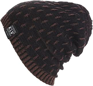 YunZyun Slouchy Beanie for Men Women Winter Hats Guys Cool Beanies Mens Lined Knit Warm Thick Skully Stocking Hat Trendy Oversized Chunky Soft Cable Classic Men's Cap