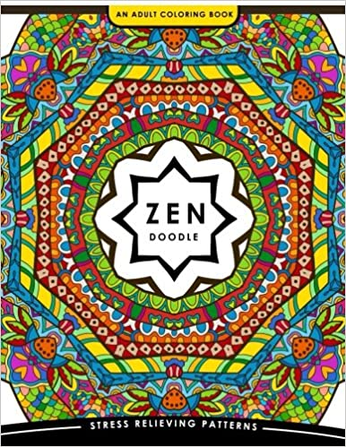 Zen Doodle Coloring Book: Flower Animal and Mandala Coloring Book for Adults