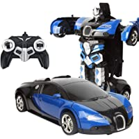 Layopo Dual Mode 360° Rotating Remote Control Car Toy, Rechargeable Deformed RC Stunt Car Robot with One Button Transforming Vehicle Toy for Kids Boy Girl Birthday Present
