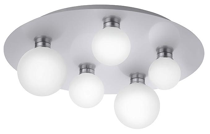 Trio Leuchten Smart Home - Lámpara de techo (metal y níquel ...