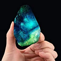 """zningck cristallo di quarzo guarigione fluorite pietra viola verde gemma pietre naturali (2.8-3,1 pollici, viola verde)"""""""