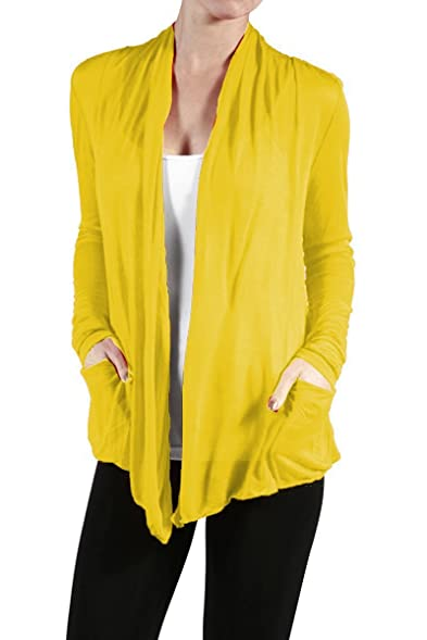 Active Basic Plus Size Yellow Sheer Cardigan at Amazon Women's ...