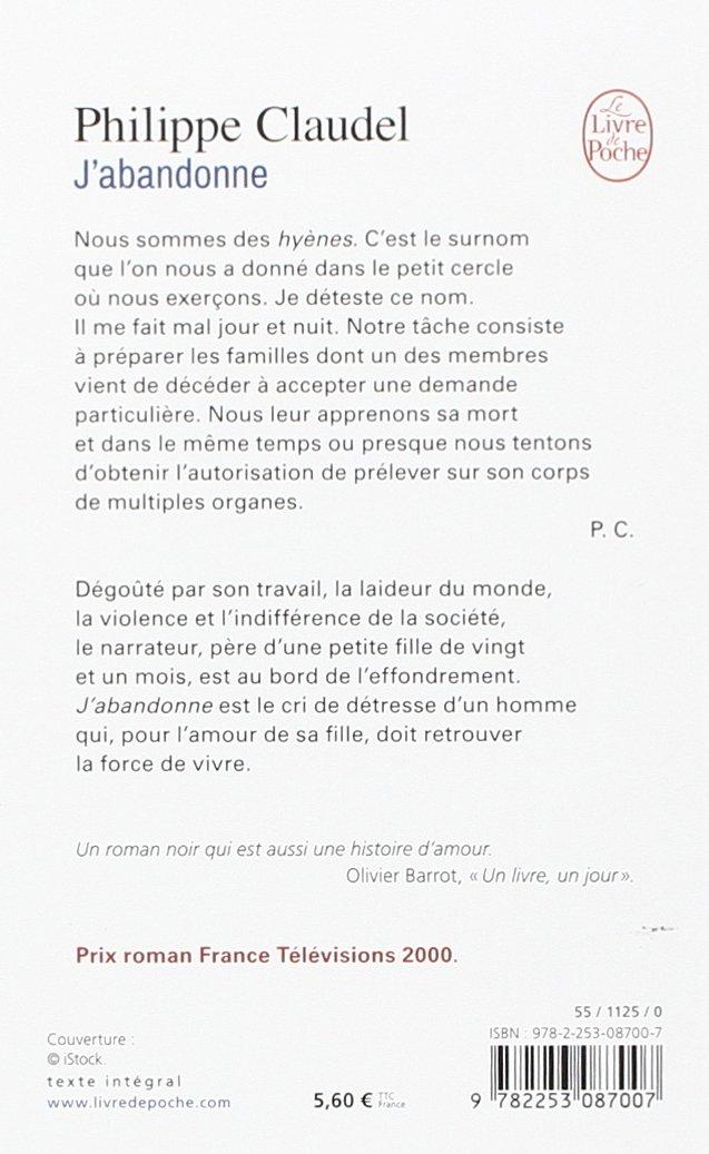 Jabandonne Littérature Amazones Philippe Claudel