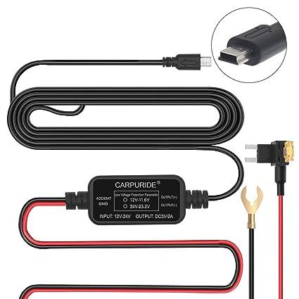 amazon com dash cam hardwire kit with lp mini fuse adapter acs dc rh amazon com