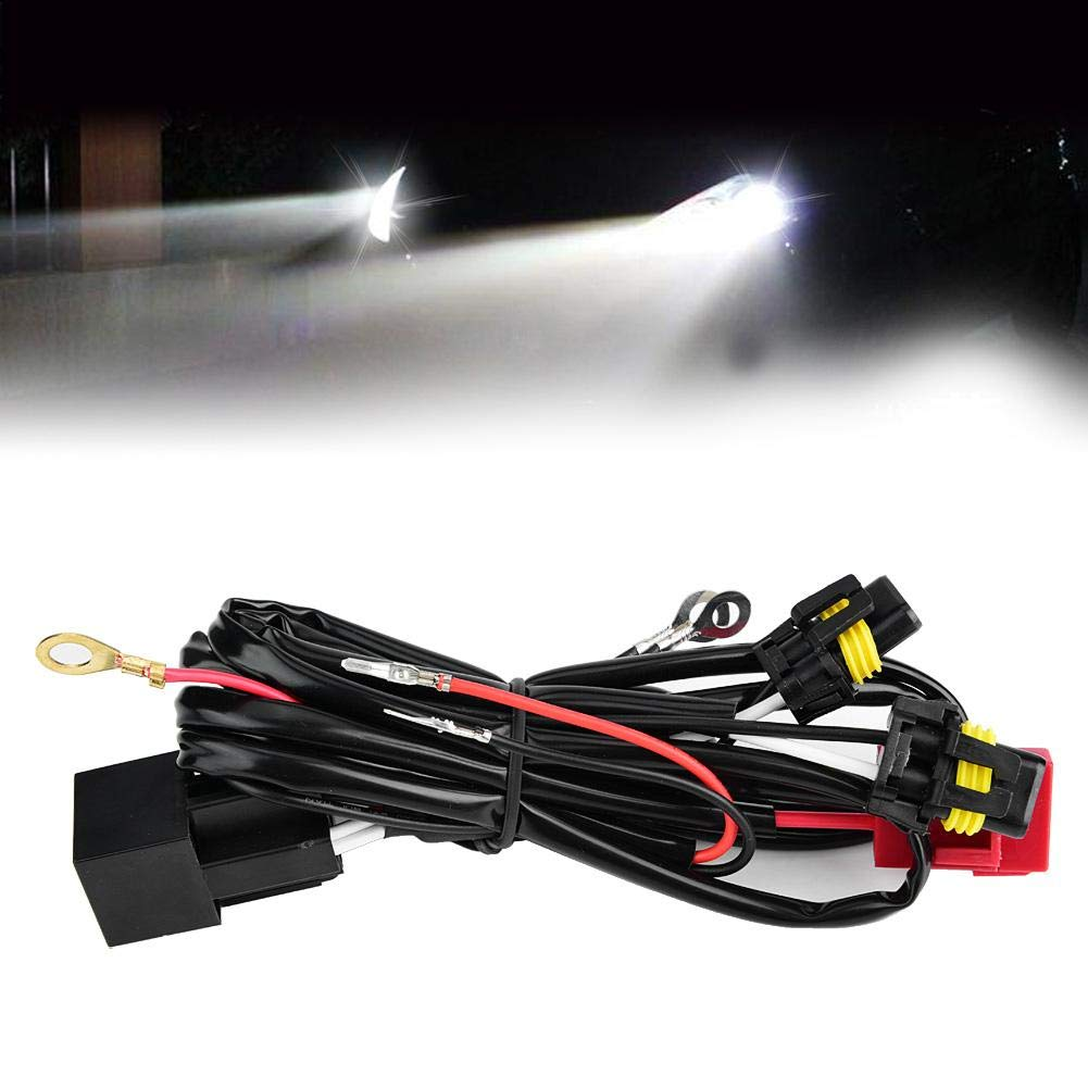 Cuque 100W Car Relay Wire Harness Adapter Headlight Work Fog Lamp Conversion Kit Fog Light Wiring Harness Sockets for Aftermarket Fog Lights Headlights Driving Lights LED Work Lamp