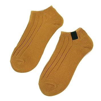zhaoaiqin 5 Pares, algodón, Calcetines del Barco de los Hombres y de Las Mujeres