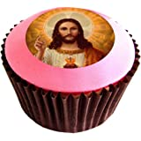 Jesus 12(of) 38mm (1.5 Inch) PRE-CUT Cake Toppers Edible Rice Paper Cupcake Decoration (film)