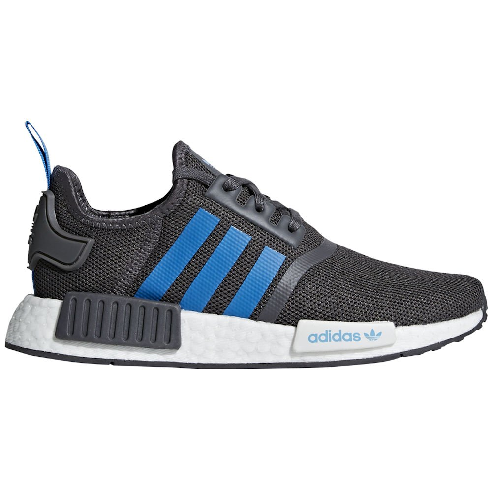 adidas Originals NMD_R1 Shoe - Junior's Casual 3.5 Grey/Bright Blue