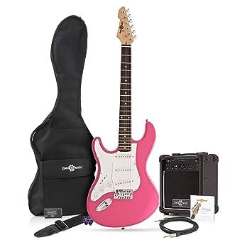 Guitarra Eléctrica LA Zurda + Paquete de Amplificador de 10 W Rosa: Amazon.es: Instrumentos musicales