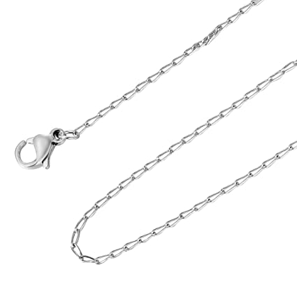 Image Unavailable. Image not available for. Color  HooAMI Mens Womens  Stainless Steel Link Chain Necklace 20 Inches 79559b4825
