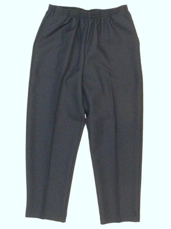 Alfred Dunner Classics Elastic Waist Pants Navy 12P S