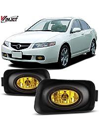 Winjet WJ30-0001-12 Yellow Lens Fog Light Kit (Acura TSX Wiring Kit and Bezel Included)