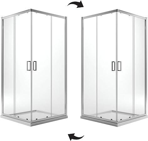 Idralite Box Mampara de Ducha Rectangular 70x90 H200 Transparente 6mm Mod. Ready: Amazon.es: Hogar