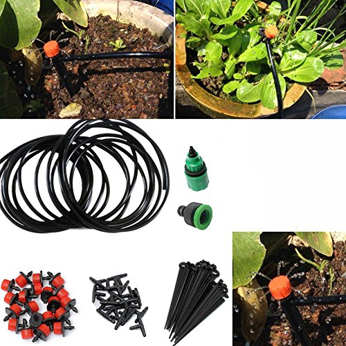 Kit System Tap (Sikiwind Drip Irrigation Kits Accessories - Automatic Plant Watering System Plant for Garden or Lawn)