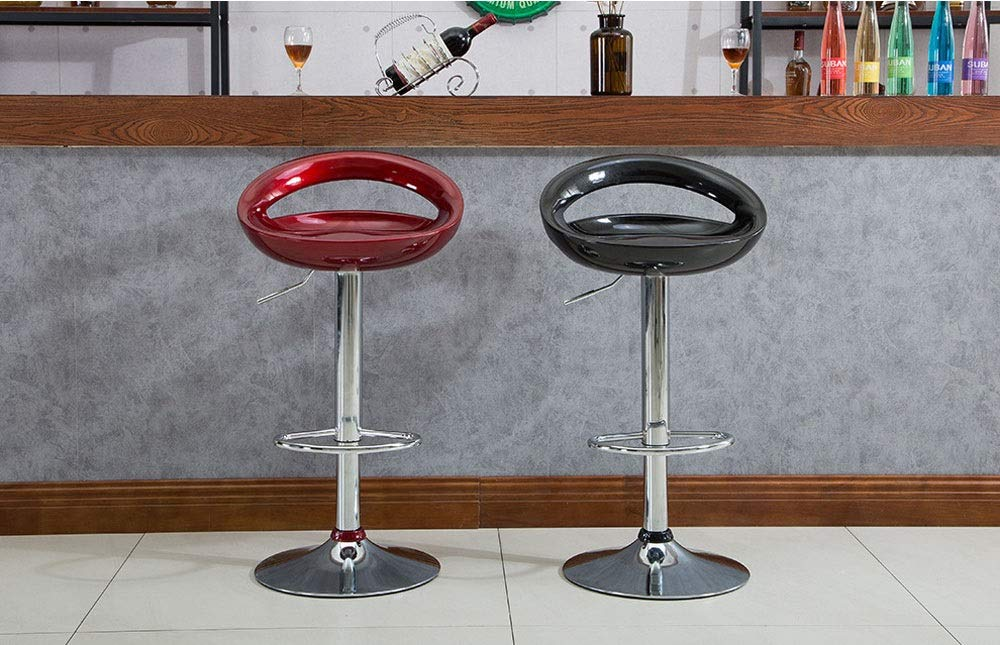 AO-stools Bar Chair Can Be Raised and Lowered Rotating High Stools Leisure Bar Chairs Etc 100x35cm (Color : Black) by AO (Image #7)