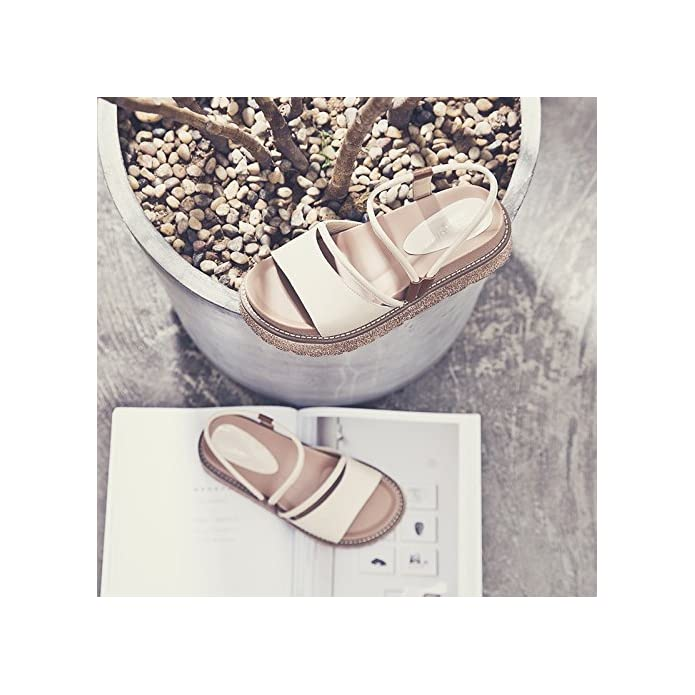 Sohoeos Sandali Per Donne Ladies Moda Estate Outdoor Flip Flop Scarpe Piattaforma Nuovo Signore 35 5eu bianco Cremoso
