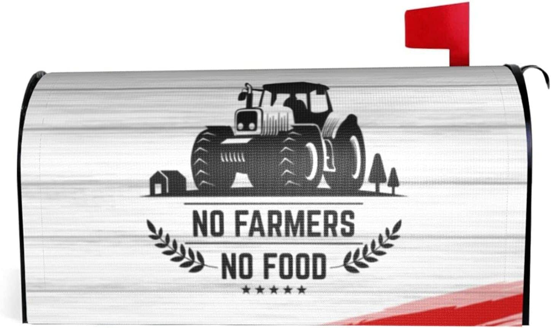 Quanchuchuqing No Farms No Food Farmer Truck Letter Box Cover Classic Mailbox Cover Standard Size 18