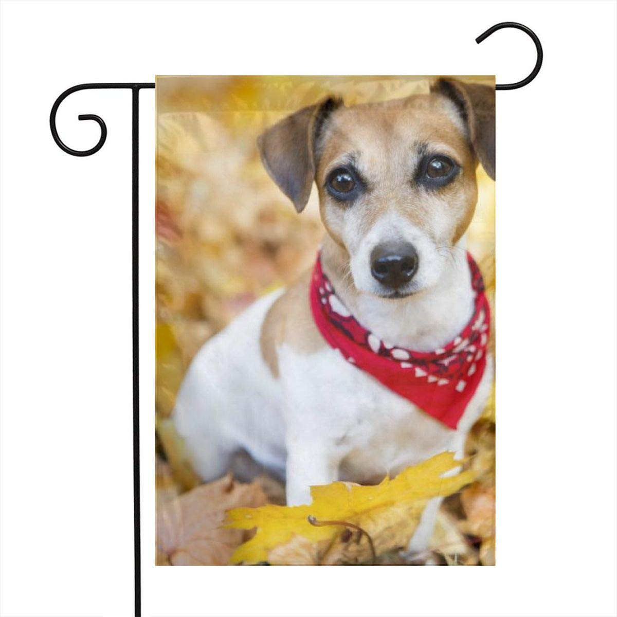 Jack Russell Terrier Puppy Dog Garden Flags House Indoor & Outdoor Welcome Decorations,Waterproof Polyester Yard Decorative for Game Family Party Banner
