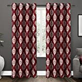 Kitchen Window Curtains Pottery Barn Exclusive Home Medallion Room Darkening Thermal Grommet Top Window Curtain Panels - 52