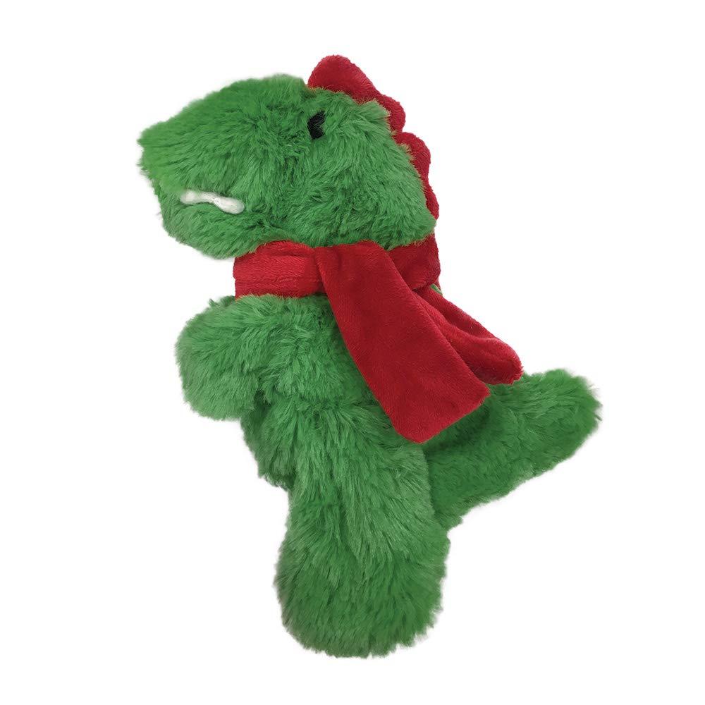 FOUFIT 85930 Very Merry Fuzzy Stuffless Dog Toy, Dino