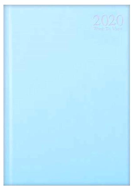 Agenda anual de 2020, A4, vista semanal, colores pastel ...