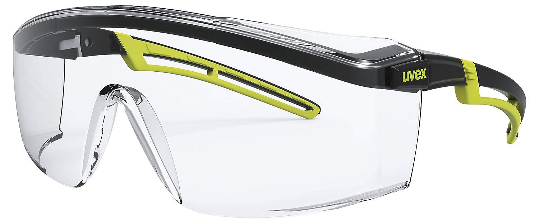 color lima y negro UVEX Safety 9164 astrospec 2.0- Gafas de protecci/ón para trabajo cristal transparente, nivel de protecci/ón 2-1,2
