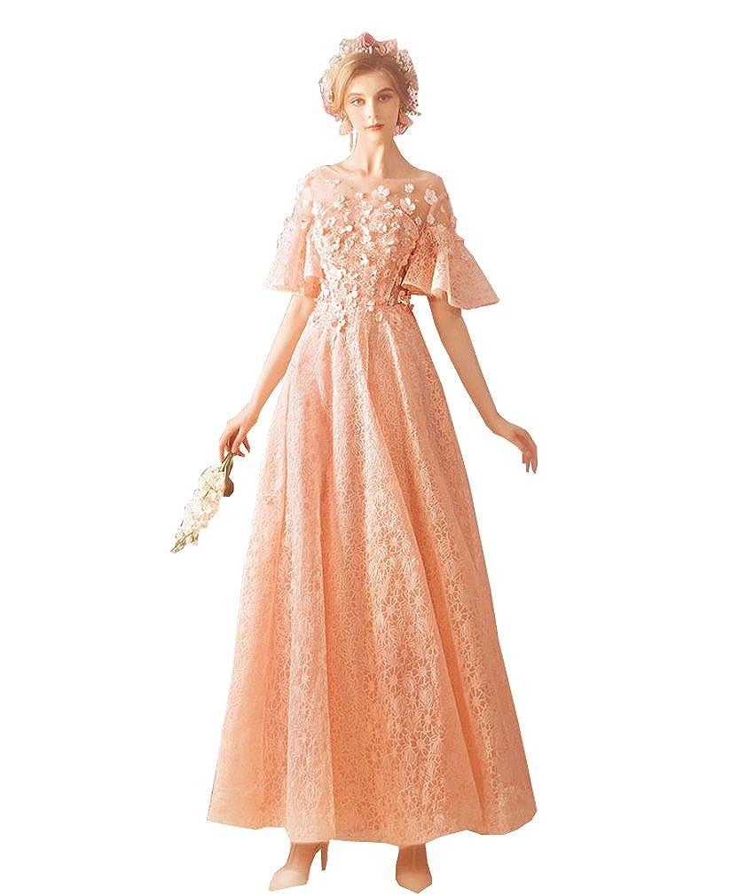 カラードレス ウェディングドレス 二次会 ロング 二次会ドレス パーティードレス ロングドレス 花嫁ドレス B07F11T6KT L
