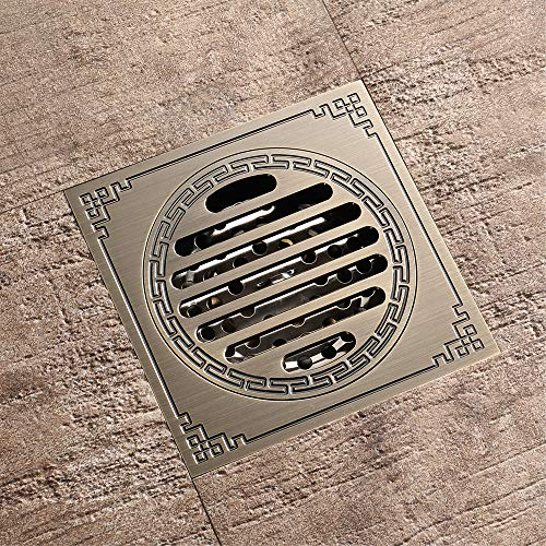Pure Cupper Antique Floor Drain Tile Insert Square Shower Floor Drain 4-Inch Insect Proof, Anti-Backwater And Deodorant Floor Drain Anti-Clogging by YJZ (Image #4)