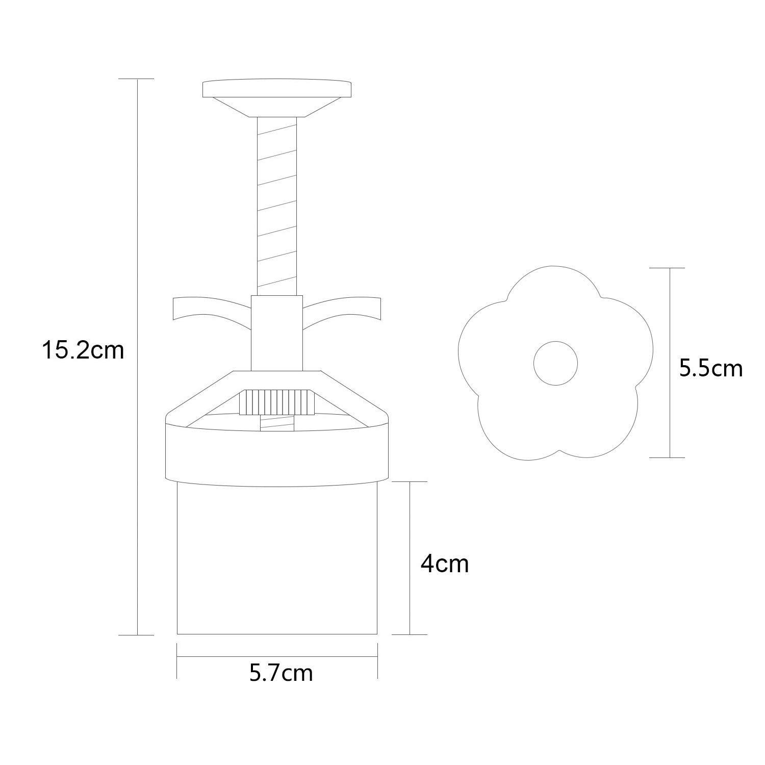 Adjustable Thickness,Easy to Clean Louty Mid-Autumn Festival DIY Mooncake Mold,Cookie Press with 65g 6pcs stamps