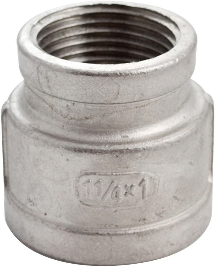 acier inoxydable 304 NPT Raccord r/éducteur Raccord filet/é de raccord filet/é femelle 1-1//4x3//4