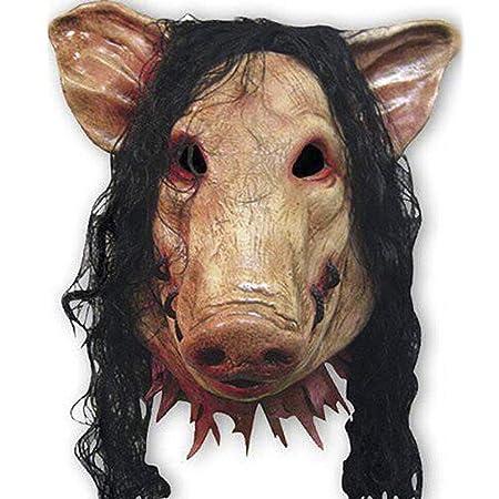 WSNGD Máscara de Cerdo de látex Unisex Disfraz de Halloween ...