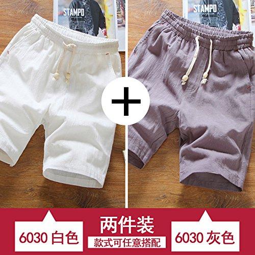 blanc ash M HAIYOUVK courtes Hommes's été Loose Pants Solid Couleur été Décontracté Pants Hommes's Thin Section Sports plage Pants Hommes's Pants