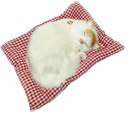 Lifelike Sleeping Cat Soft Plush Doll Kid Toys Lifelike Simulation Sound Toys