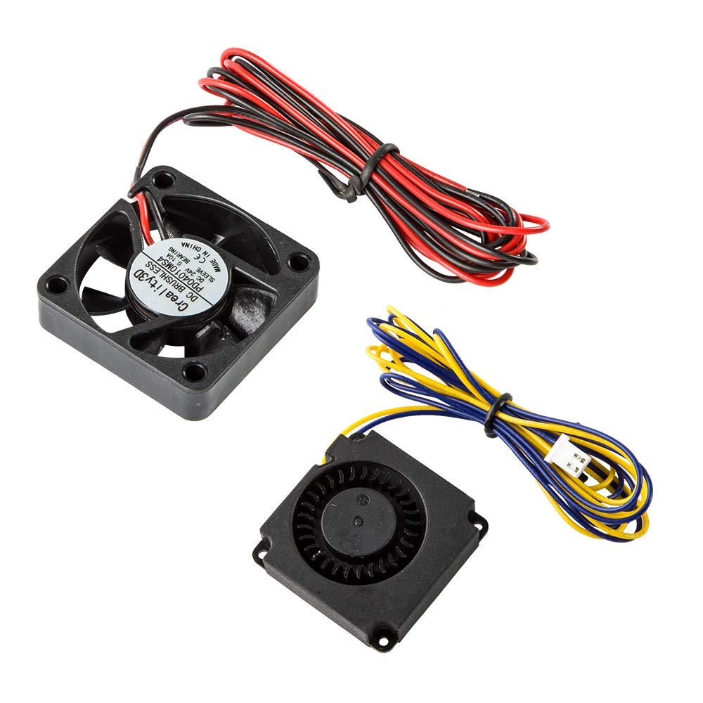 Creality Ender 3 Original 4010 Fans 40x40x10MM DC 24V Extruder Hot End Fan and DC 24V Turbo Fan for Ender 3 3D Printer