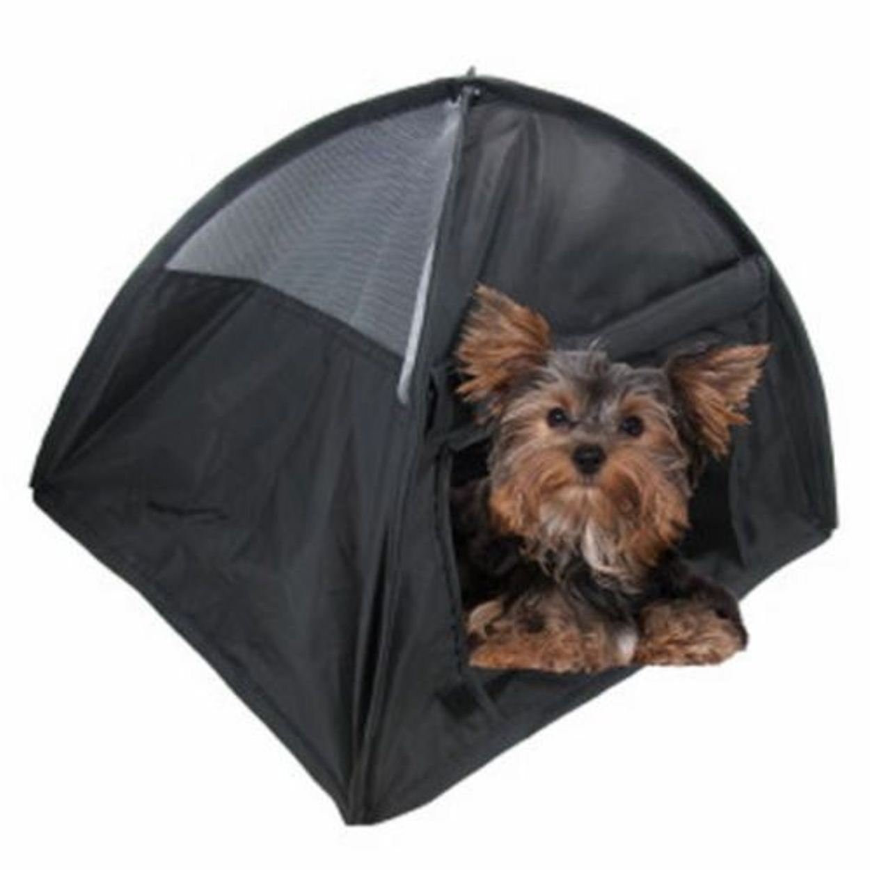 NEW Small Pop Up Camping Tent 14 Inch Black Nylon DOG Puppy Pet Cat Bed
