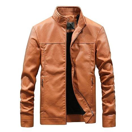 ZODOF Chaqueta Abrigo para Hombre Otoño Moda Color puro ...
